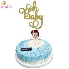 baby cake topper 1pcs gold glitter oh baby cake topper birthday it s a girl boy