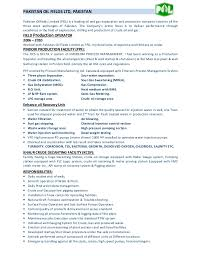 Resume Examples For Oil Field Job by Field Production Operator Cv