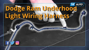 Dodge Ram 3500 Parts - how to install replace underhood light wiring harness 1998 10