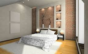 Interior Wall Design by Bedroom Brick Wall Design Ideas