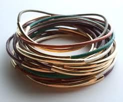 stackable bracelets set of 9 leather bangle bracelets leather bangle custom