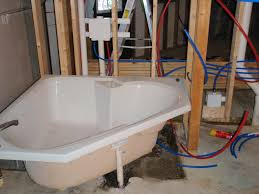 second rough in plumbing done blog post at ownerbuilderbook com