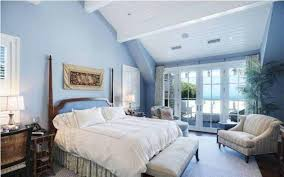 airy blue bedroom cape cod decor styles with exposed beams and