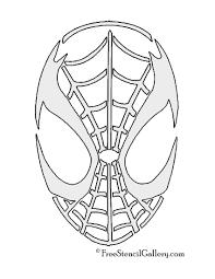 spiderman mask stencil free stencil gallery