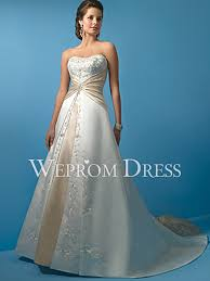 a line sleeveless ivory champagne embroidery beading pear shaped