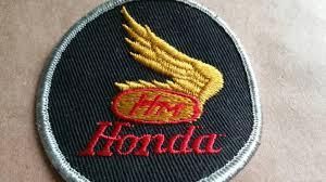 vintage honda logo free us shipping 1970s vintage honda patch honda motorcycle