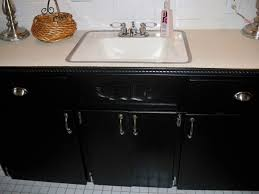 Bathroom Vanity Makeover Ideas Colors Unique 60 How To Paint A Bathroom Cabinet Black Design