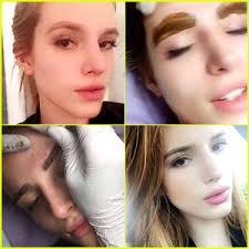 bella thorne shows off new tattooed eyebrows bella thorne