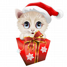 christmas santa kitten with big red gift by bluedarkat graphicriver