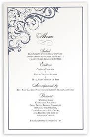 Wedding Invitations With Menu Cards Vintage Wedding Menu Cards Spiral Swirl Menu Card Custom Design
