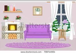 interior living room vector illustration flat stock vector