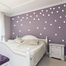 polka dot wall decals with purple wall paint for bedroom white polka dot wall decals with purple wall paint for bedroom