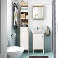 Tiny Bathroom Storage Ideas by Small Bathroom With A Wash Basin Cabinet And A Corner Cabinet In