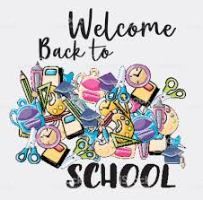 welcome back to school doodle clip greeting card