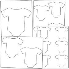 baby onesie outline printable treats baby shower ideas