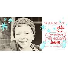 warmest wishes photo card wishes with mittens snowflakes printable photo card