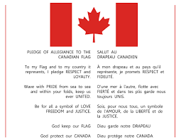 Canadian Flag 1960 Pledge To Commence A Mapleseed Event
