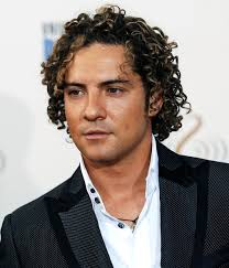 wavy long hair awkward stage men ask rogelio david bisbal and his curly celebrity hairstyle the