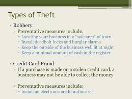 Business Card Measures Risk Management Unit 8 Dealing With Business Risks Risk The