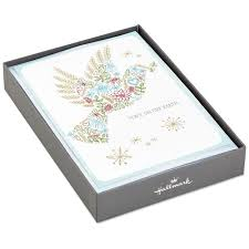 dove of peace christmas cards box of 16 boxed cards hallmark