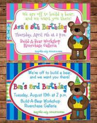 build a bear birthday party invitation riley u0027s birthday