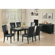 Black Stone Dining Table Top Dining Table With Black Faux Stone Top