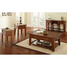 steve silver crowley end table steve silver desoto 4 piece coffee table set w casters in dark