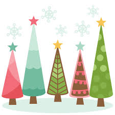 christmas tree clipart cute pencil and in color christmas tree