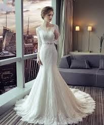 fishtail wedding dress lace fishtail wedding dress circelee wedding dress