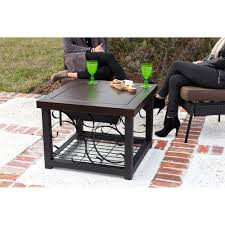 Patio Table Fire Pit by Tone Bronze Finish Cocktail Table Fire Pit
