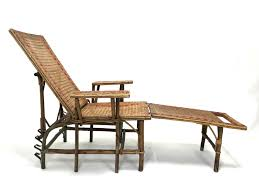 french chaise lounge sofa french wicker and bamboo chaise longue with footrest 1920s for