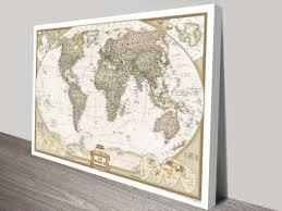 2007 World Map by World Map Canvas Wall Art Framed Maps Sydney