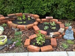brick planter brick garden bed herb garden sage mint hort