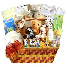 Baby Gift Baskets Noahs Ark Baby Gift Basket Baby Shower Gift Basket Newborn Gift