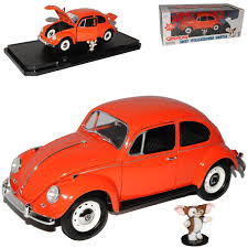 vw volkswagen beetle vw volkswagen beetle gremlins orange gizmo 1 18 greenlight model