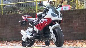 bmw motocross bike ride on bmw s1000rr motorbike maplin a45tn youtube