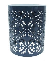 navy blue accent table hudson 43 metal accent table navy joann