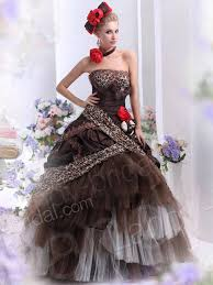brown wedding dresses strapless tulle brown wedding dress shimmer n shine picture