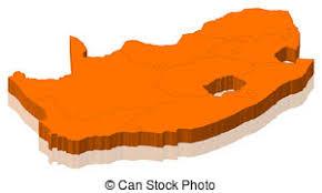 3d africa map vector south africa map 3d shape shape 3d of south africa map stock
