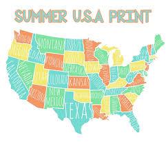 printable map of usa colorful usa map free printable lolly