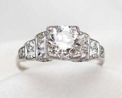 deco stair step diamond solitaire art deco diamond engagement ring