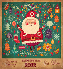 vintage card with santa claus royalty free cliparts
