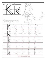 printable letter tracing worksheets printable letter k tracing worksheets for preschool learning