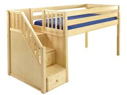 Low Bed Frames For Lofts Lofted Bed Frame Low Loft Bed With Stairs Cool House