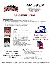 Coaching Resume Our Staff New York Nationals Long Island Travel Baseball