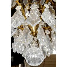 Bronze And Crystal Chandeliers Pair Of Fabulous Bronze U0026 Crystal Chandeliers For Sale Antiques