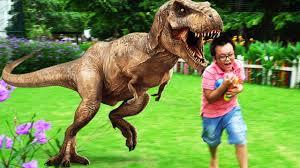 kid steals dinosaur eggs learn colors with tyrannosaurus dinosaurs