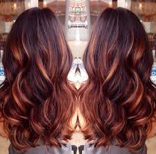 rose gold lowlights on dark hair dark brown hair with caramel highlights and red lowlights by