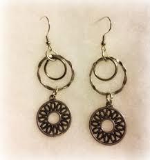 unique earrings mixed metal earrings silver brass copper gold jewelry