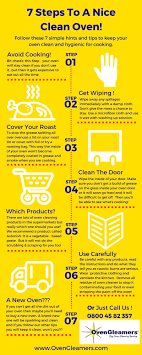 cleaning tips oven cleaning tips infographic